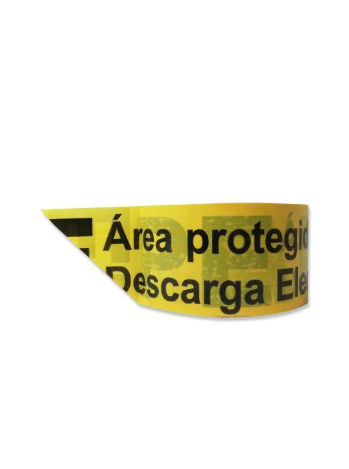 """Fita com texto """"APE - Área Protegida Contra a Descarga Electrostática"""